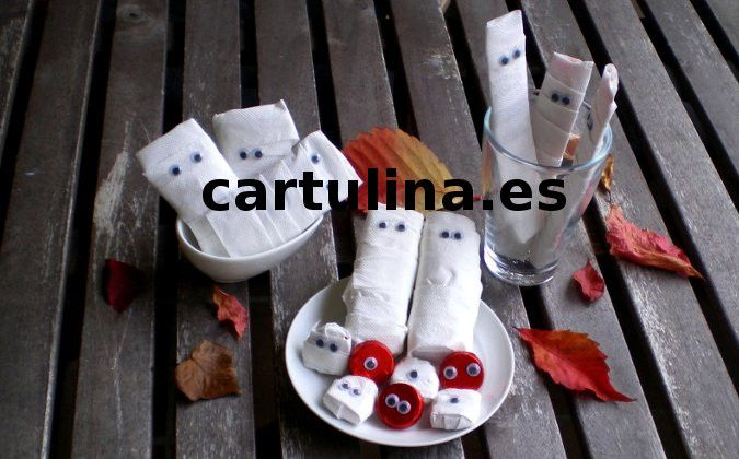 http://cartulina.es/decoraciones-de-halloween-caseras/ Decoración de mesa para Halloween paso a paso
