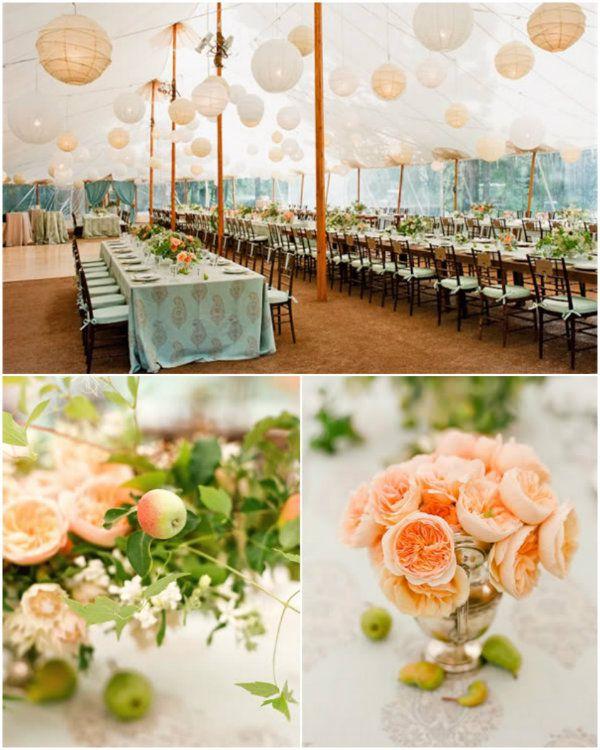 Mint Grun Blush Pink Hochzeit 2014 Hochzeitsfarben Inspiration