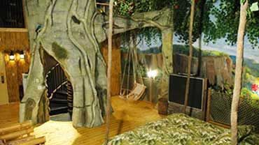 Florence, KY Wildwood Inn Theme based Rooms/Suites-Tree House family suite