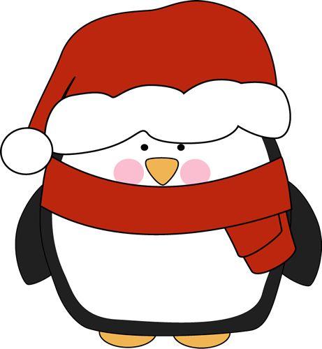 Penguin in a Santa Hat | Clip Art-Animals | Pinterest