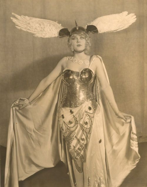 Marion Martin wearing a costume designed by Erté1928 - Valkyrie?