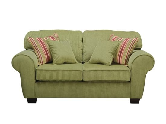 Celebration Green Loveseat   Value City Furniture #ValueCityPinToWin