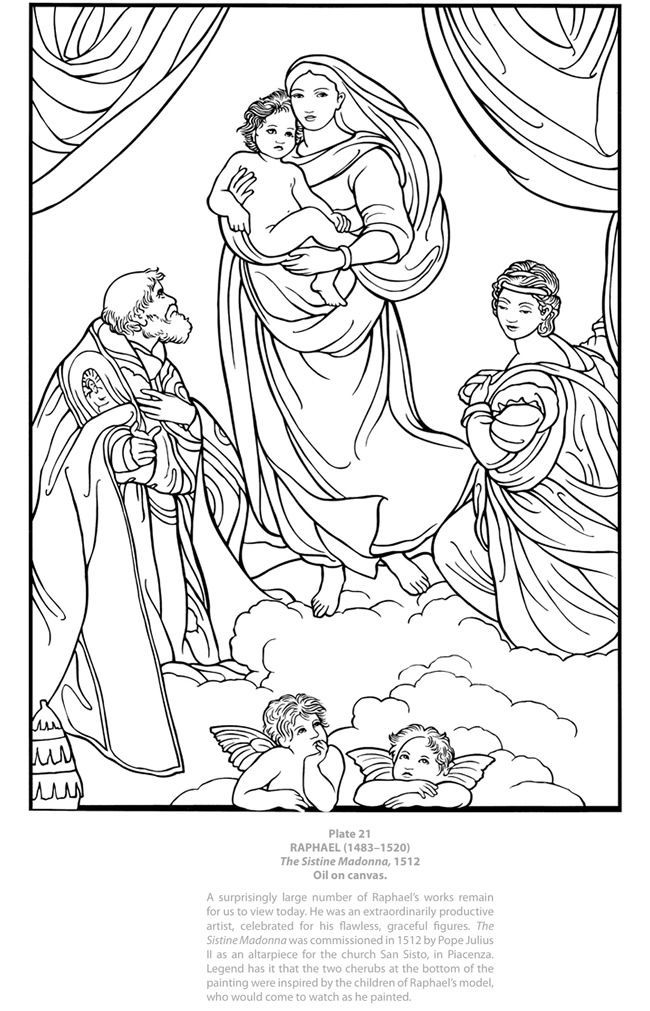 masterpieces coloring pages - photo#15