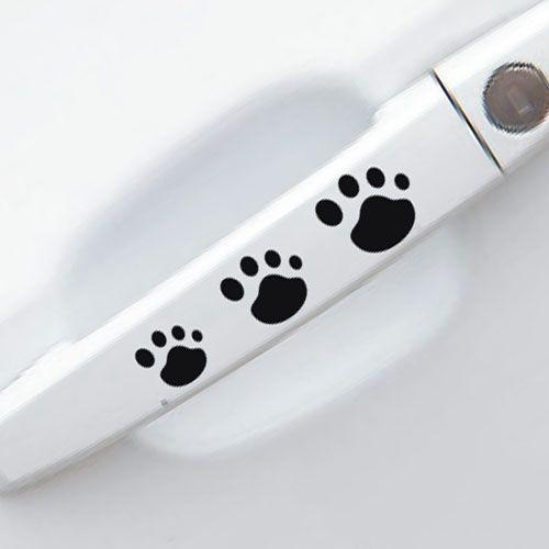 Huella de manijas para puerta del coche adhesivo personalizado pegatinas de parachoques, perro huellas etiquetas engomadas del coche de la mano