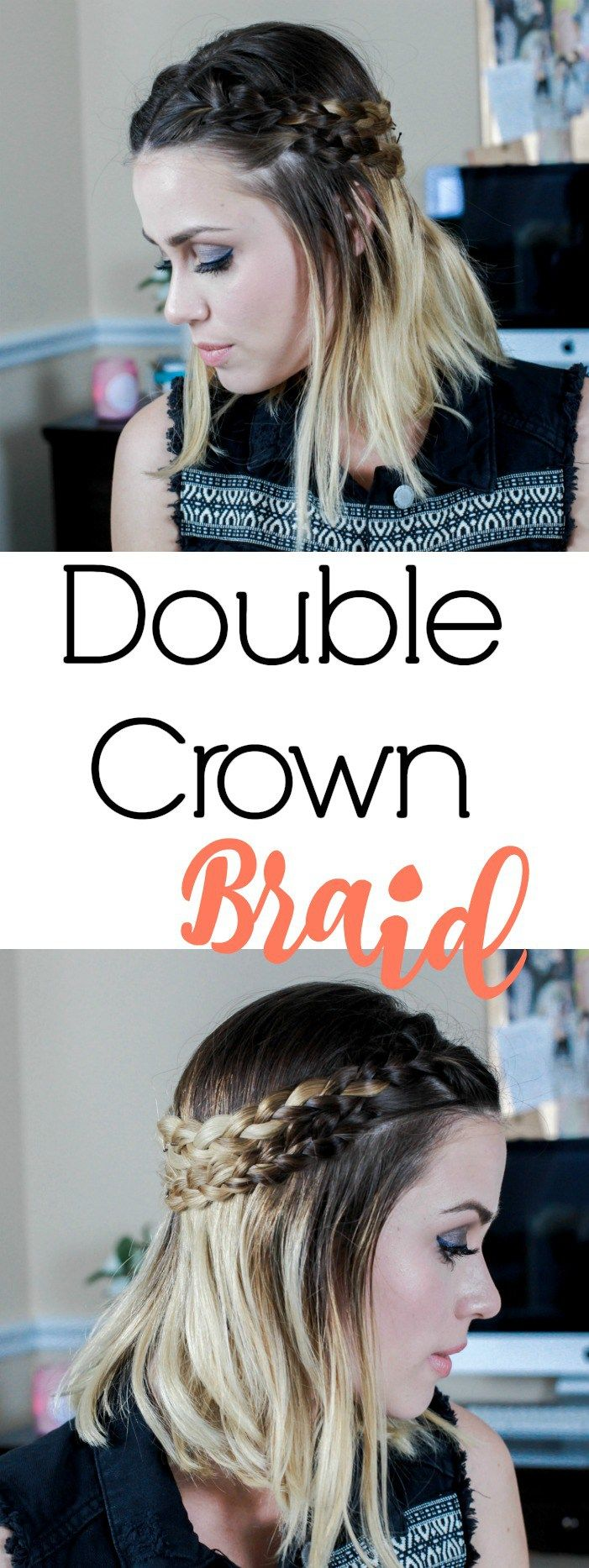 How to: Double Crown Braid | Double Braid | Easy braids | Uptown with Elly Brown