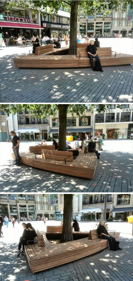 Custom made urban bench by Grijsen, Düsseldorf, Germany