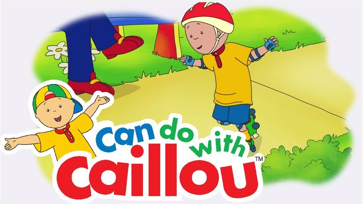 Caillou Can Roller Skate! Inspire your little one with these Can do with Caillou Videos! #CanDoCaillou