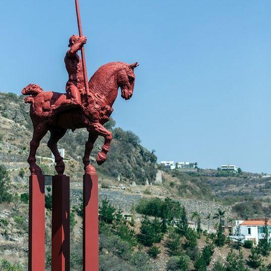 #JavierMarin, #de3en3, grupo rojo. #bronze, #bronce, #escultura, #sculpture, #caballo, #horse