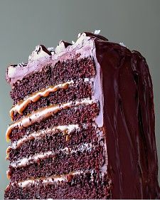 Salted Caramel Six Layer Chocolate Cake RECIPE fr. Martha Stewart.