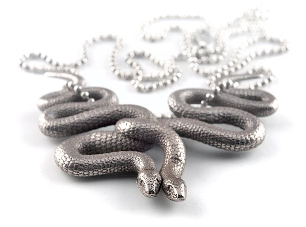 Embraced Snakes Pendant by MichaelMueller'