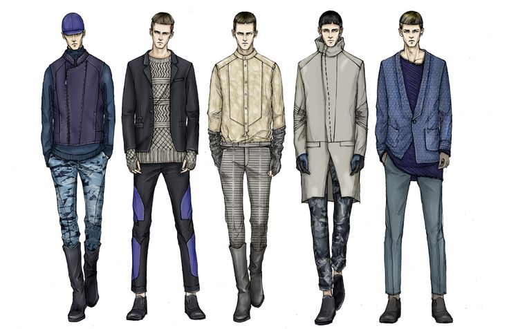 Men fashion illustration - photo#3