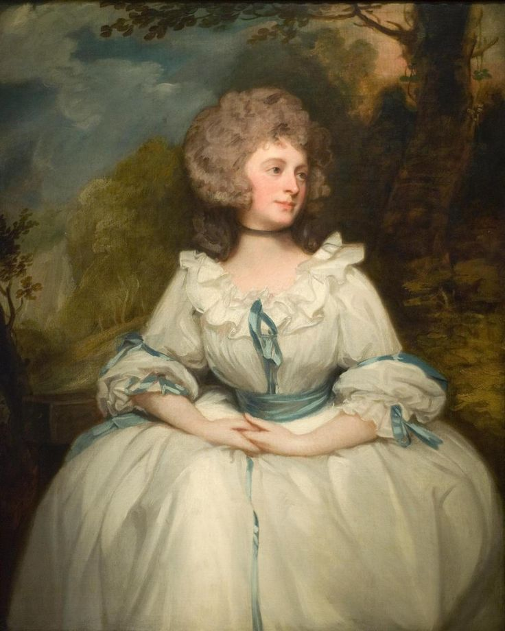 Lady Lemon, 1788, George Romney--Robe en Chemise or Chemise a la Reine - The scandalous fashion of the 1780s was the Robe en Chemise, a gown styled literally from the underwear of the lower classes.  Robe en Chemise feature gathered bodices, sometimes cut in one with the skirt.  There are various stylings - some have fitted backs, while others have gathered backs; some have full billowing sleeves, while others have long, tight sleeves.