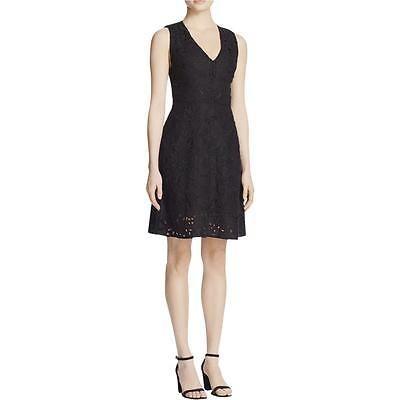 Theory 9701 Womens Embroidered V-Neck Sleeveless Casual Dress Bhfo