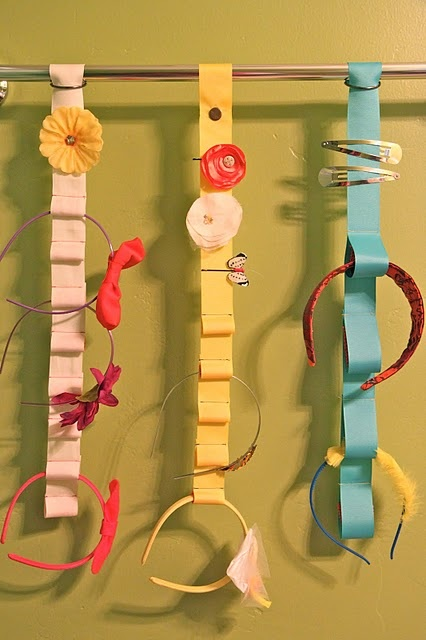 Great idea for storage of hair clips, belts, head bands etc !