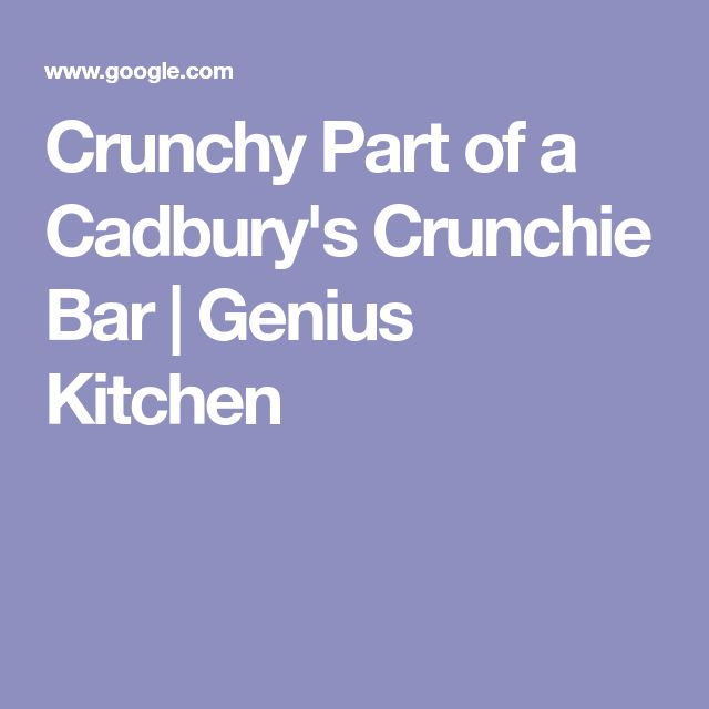 Crunchy Part of a Cadbury's Crunchie Bar | Genius Kitchen