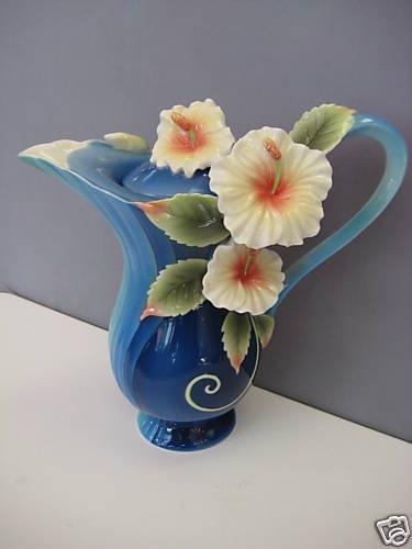 Franz Porcelain Island Hibiscus Blue Teapot 1783 | eBay