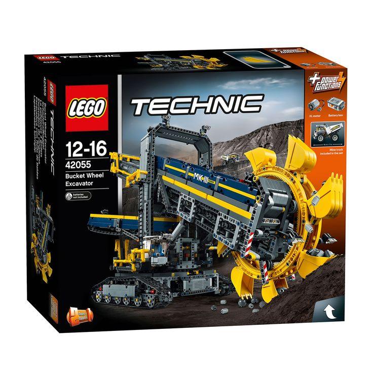 Je hebt nog nooit zo'n bouwwerk van Lego gezien. Dit bakbeest is 88 centimeter, daarmee de grootste van Lego tot nu toe en een geweldige uitdaging voor bouwers! Bouw en bedien deze 2-in-1 Lego Technic 42055 Emmerwiel Graafmachine. Met zijn gele details en vele onderdelen is het mogelijk om er twee verschillende machines van te maken, een mijngraafmachine of mobiele grondstof-verwerkingsfabriek, en is het speelplezier grenzeloos. De XL motor en batterijbox drijf je de transportbanden…