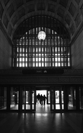 Front entrance vault and coffers, Union Station, Toronto, Ontario. Urban landscape, travel and tourism. Commercial architecture photography by Jeanne McRight, Pix Photography.