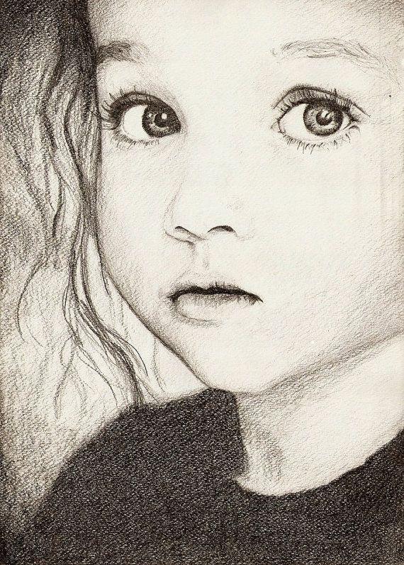 encargo del retrato retrato a lápiz dibujo blanco y negro por Dydka