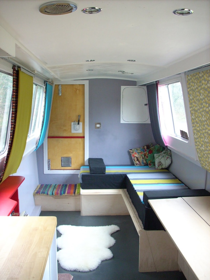 Boat Interior Design Ideas boat interior design google search Dominique Brown Great Layout For A Small Living Space In This Case A Narrowboat Interiorscaravan Interiorshouseboat Ideashouseboat