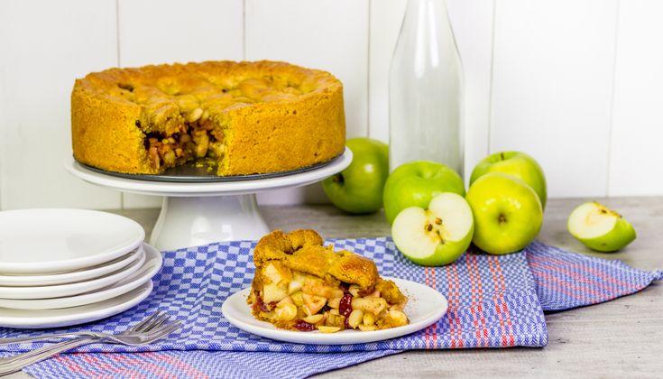 Recept: Appeltaart met amandelen en cranberries (glutenvrij) - Koopmans.com