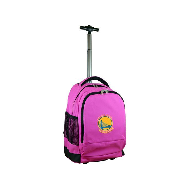 NBA Golden State Warriors Mojo Premium Wheeled Backpack - Pink