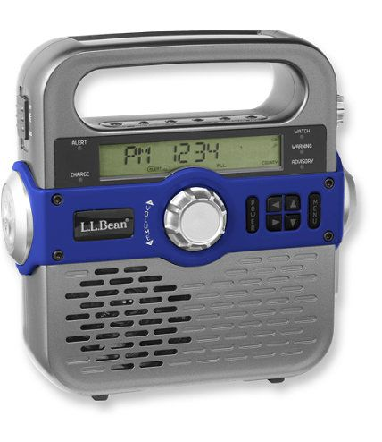 Solar Emergency Weather Radio: Accessories | Free Shipping at L.L.Bean