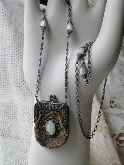 coin bag necklace - Metallic Versus 3YSkDNpDs