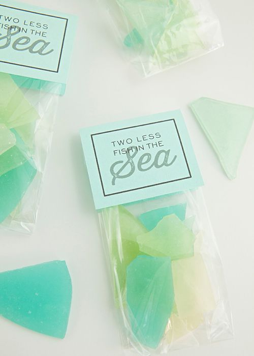Edible Seaglass Bridal Shower Favors | Brides.com