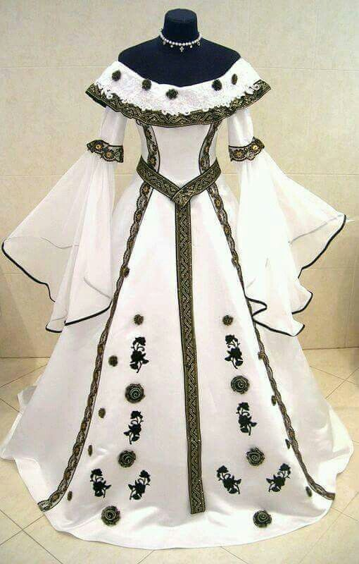 Midevil wedding dress