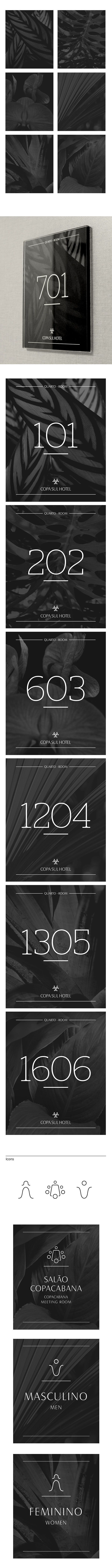 Copa Sul Hotel Signage by Studio Fernanda Schmidt on Behance
