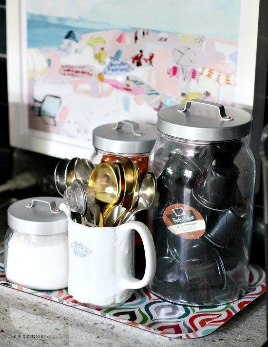 Hi Sugarplum   Organized Coffee  Station