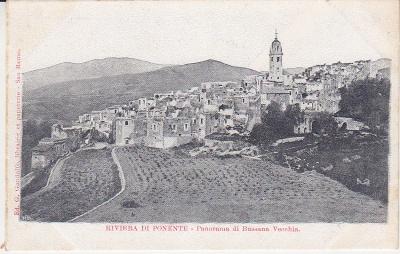 G Gandolfo Postcard  - Riviera di Ponente - Panorama di Bussana Vecchia c1907