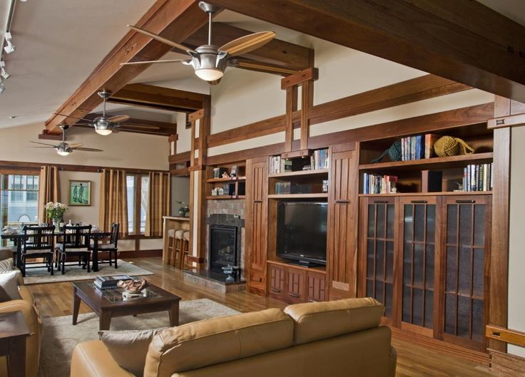 Bookcase Plus Track Lighting For Craftsman Family Room