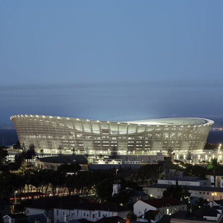 Green Point Stadium by GMP Architekten. Cape Town. South Africa