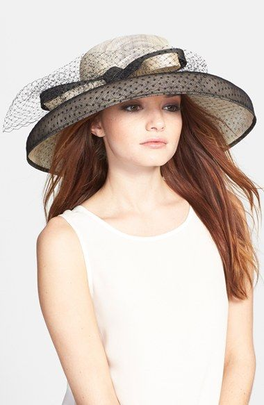 Nordstrom Sinamay Hat with Point d'Esprit available at #Nordstrom
