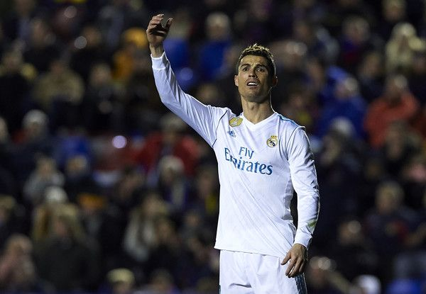 Cristiano Ronaldo Photos - Cristiano Ronaldo of Real Madrid reacts during the La Liga match between Levante and Real Madrid at Ciutat de Valencia on February 3, 2018 in Valencia, Spain. - Levante v Real Madrid - La Liga