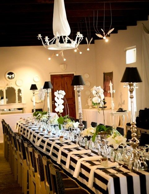 56 best images about black and white wedding table settings on pinterest runners floating. Black Bedroom Furniture Sets. Home Design Ideas