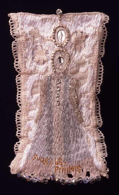 Ulla Pohjola, Patron saint, 1996 Size: 14,5 x 26 cm Technique: hand embroidery Material:...