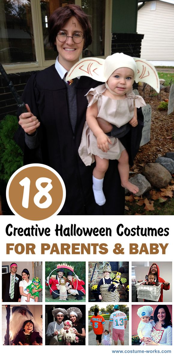 18 Creative DIY Halloween Costumes for Parents and Baby