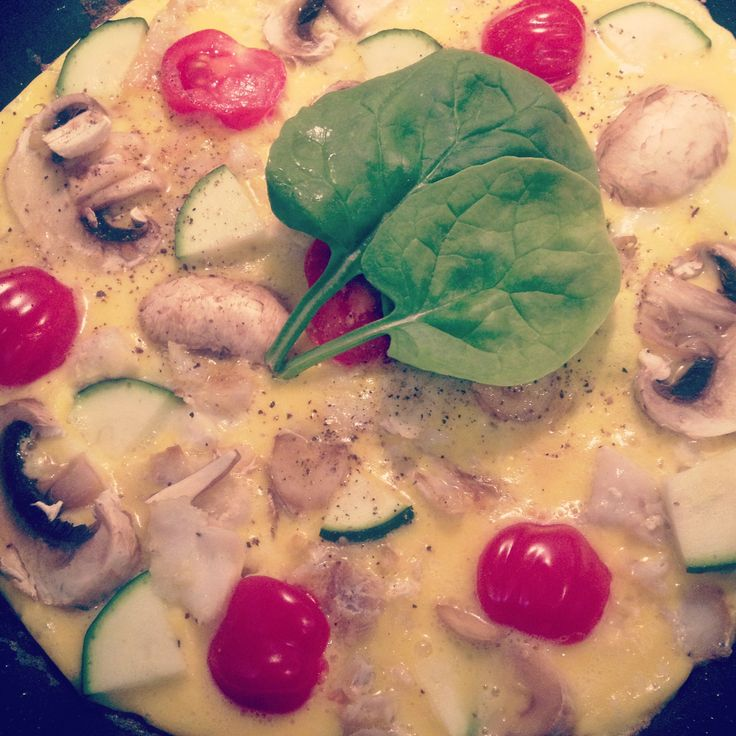 Cod omelet with squash