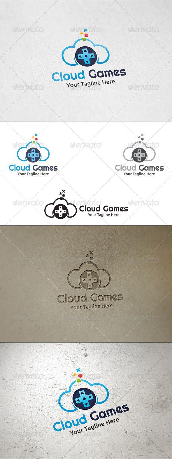 Cloud Games - Logo Template