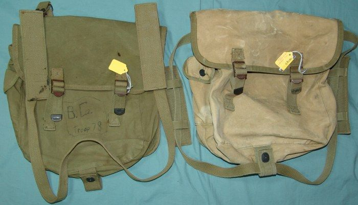 WWII USMC  Marine Gear.  Dad had a pack somewhat like this for many years.  Unfortunately, when he died the pack was in such bad condition we burned it.