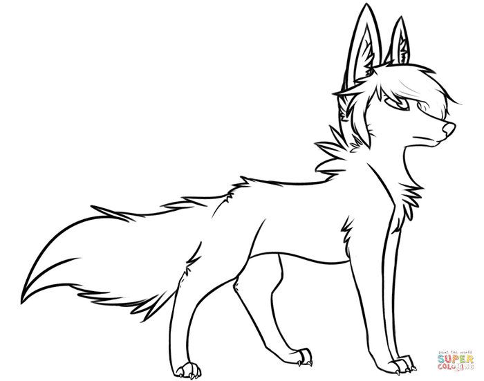 Anime Wolf Coloring Pages Lion Coloring Pages Horse Coloring Pages Animal Coloring Pages