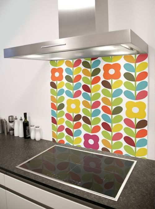Retro patterned Splashbacks by DIYSPLASHBACKS.CO.UK