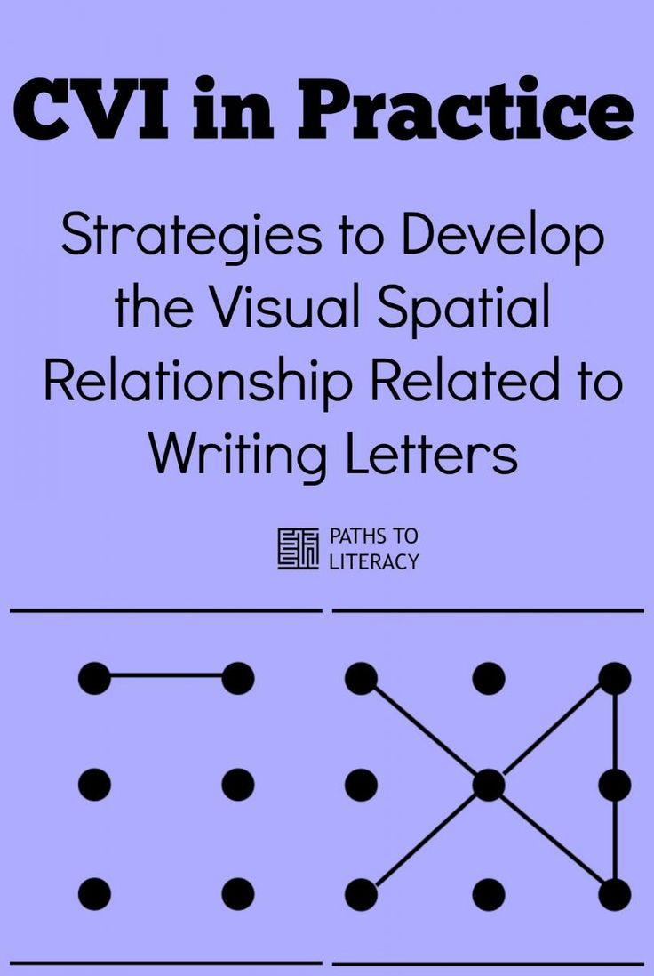 CVI in Practice:  Strategies to help learners with Cortical Visual Impairment to develop an understanding of the visual spatial relationship related to writing letters