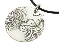 The You & Me Pendant... Brent & Jess Fingerprint Wedding Rings Custom Handmade Fingerprint Jewelry