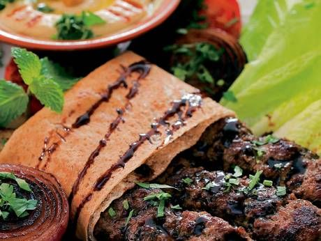 Serve this spicy Middle Eastern beef kofta with grilled vegetables       Preparation time: 15 minutes  Cooking time: 25 minutes  Total t...