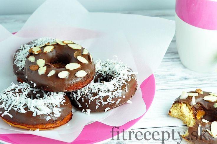 Pečené šišky z kokosovej múky s čokoládovou polevou - FitRecepty
