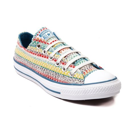 Shop for Converse All Star Lo Rainbow Sneaker in Natural at Journeys Shoes. Shop today for the hottest brands in mens shoes and womens shoes at Journeys.com.This season, get down with the new All Star Lo Rainbow Sneaker from Converse! The Rainbow Sneaker features a low top style with vibrant knit textile uppers, contrasting lining and trim, and signature rubber outsole. Available only online at Journeys.com and SHIbyJourneys.com!Please note that this shoe runs a half size large.